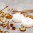 Aroma Set with Smoking Sticks and Pyramids — Stock Photo