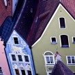 Aerial view to houses in Fussen, Germany — Stock Photo