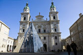 The Dome Cathedral in City Center of Salzburg, Austria — Stock Photo