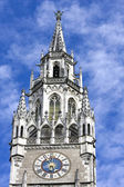 The clock of the city hall at Marienplatz in Munich — Stock Photo