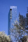Manhattan building closeup — Stock Photo