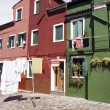 Houses in Burano Island — Stock Photo