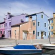 Houses in Burano Island — ストック写真
