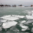 Coast of Michigan lake in winter — Stock Photo