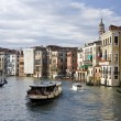 Buildings on the big canal in Venice — Stock Photo