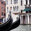 Buildings on the big canal in Venice — Foto Stock