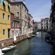 Buildings on a canal in Venice — Stok fotoğraf