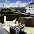 Gatun Locks, Panama Canal — Stock Photo