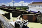 Gatúnské zámky, panamský průplav — Stock fotografie