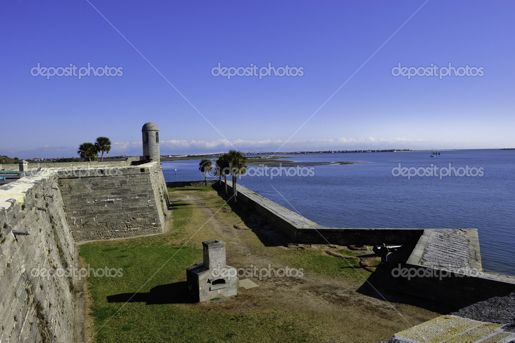 Castillo de San Marcos Historic site in St. Augustine, Florida — Stock Photo #5482564