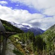 Stock Photo: Vintage Train out of Skagway Alaska