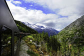 Vintage Train out of Skagway Alaska — Stock Photo