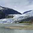 Stock Photo: Mendenhall Glacier at Juneau Alaska