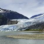 Mendenhall Glacier at Juneau Alaska — Stock Photo