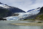 Mendenhall Glacier at Juneau Alaska — Stock Photo