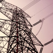 Power transmission tower on sky — Stock Photo