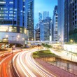 Stock Photo: Road and traffic in downtown areof Hong Kong