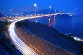 Ting Kau Bridge in Hong Kong at night — Stock Photo