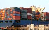 Navio porta-contentores — Fotografia Stock