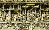Chinese old story stone carving with group — Stock Photo