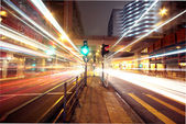Modern urban landscape at night — Stock Photo