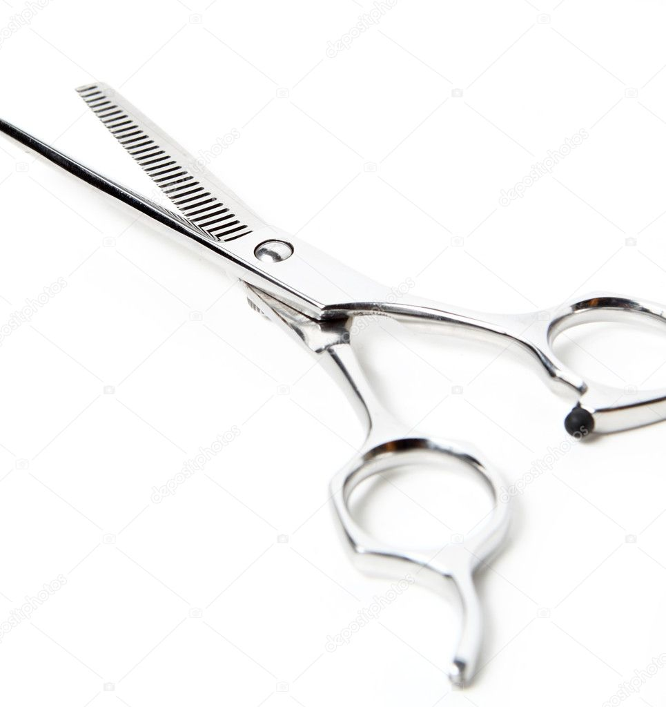 Professional Haircutting Scissors. Studio isolation on white.  — Stock Photo #5533472