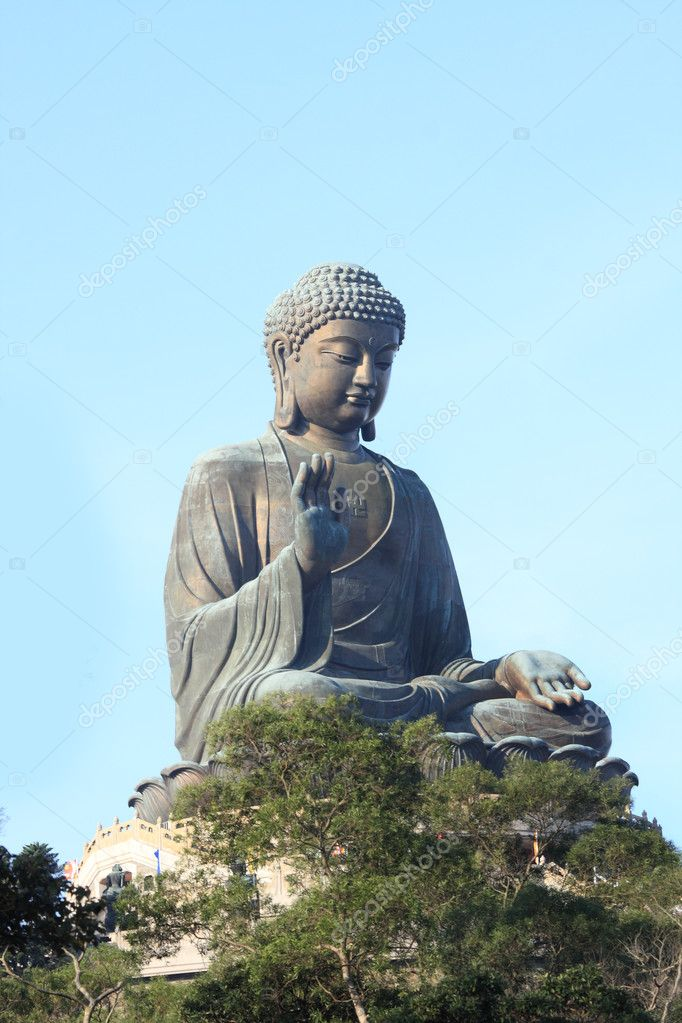 Giant Buddha Statue in Tian Tan. Hong Kong, China  — Stock Photo #5533539