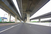 Highway under the bridge — Stock Photo