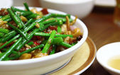 Wok stir fry with selective focus — Stock Photo