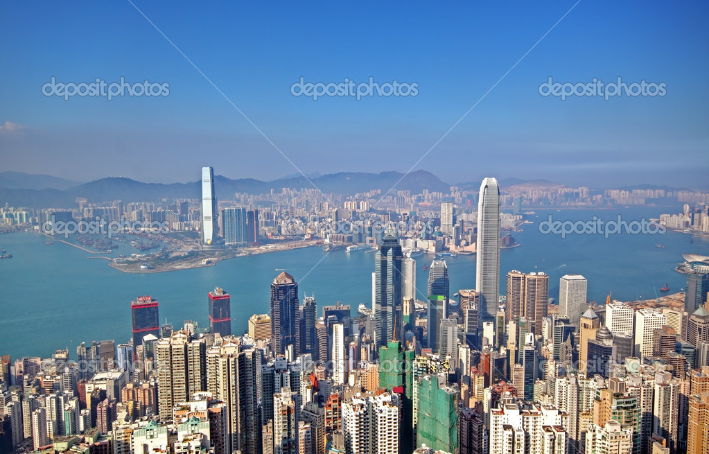 Hong Kong and modern buildings — Stock Photo #5611464