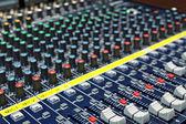 Mixing desk background pattern — Stock Photo