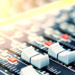 Mixing desk background pattern - Stock Photo