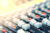 Mixing desk background pattern — Stock Photo