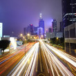 Busy night traffic in Hong Kong — Stock Photo #5709351
