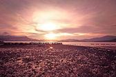 Sea stones at sunset — Stock Photo