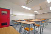 Empty big classroom at school — Stock Photo
