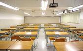 Empty big classroom at school — Foto Stock