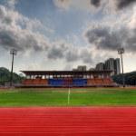 Track Lanes and Stadium — Stock Photo