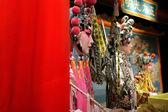 Chiffon rouge et factice d'opéra chinois comme espace de texte, c'est un jouet, pas — Photo