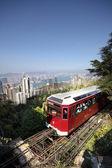 ピーク時に、香港観光トラム — ストック写真