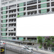 Stock Photo: Large advertisement blank in city