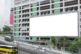 Large advertisement blank in the city — Stock Photo