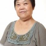 portret starej kobiety azjatycki chiński — Zdjęcie stockowe #6115830