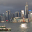 Hong Kong harbour - Stock Photo