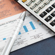 Stock Photo: Financial concept: analyzing.