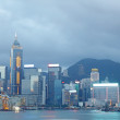 Magic hour of Victoria harbour, Hong Kong — Stock Photo