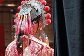Chinese dummy opera, looking after the stage — Stock Photo