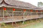 китайский деревянный дом — Стоковое фото