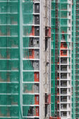 Construction site of private apartments — Stock Photo