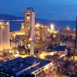 Cement Plant,Concrete or cement factory, heavy industry or const - Stock Photo